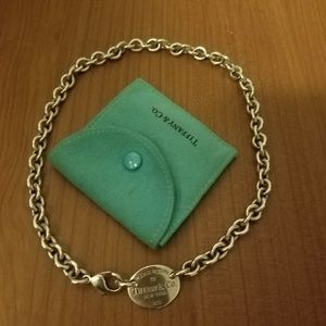 Authentic Tiffany & Co. Oval Necklace